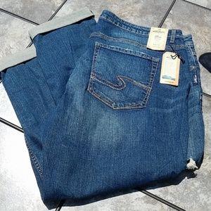 Silver Boyfriend Jeans